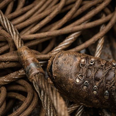dirty rope and boots